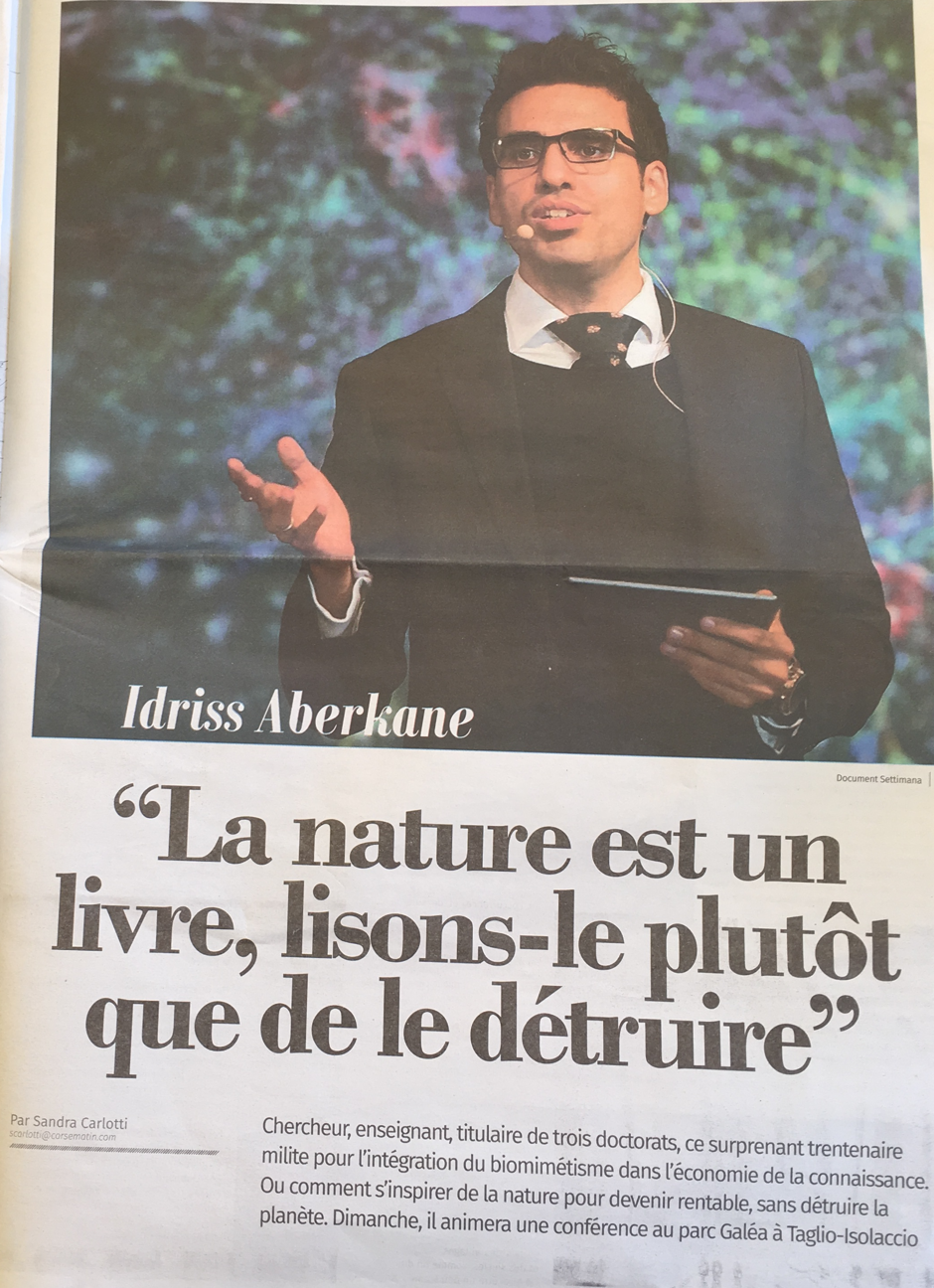 article dans corse matin settimana du 27 mai au 2 juin